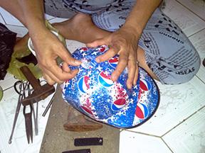 Making a tin can cap